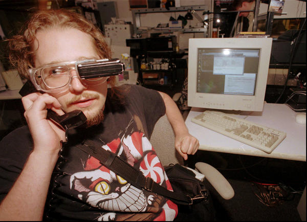 As a student at the Massachusetts Institute of Technology in 1997, Thad Starner developed — and wore, pretty much everywhere — a computer with a screen attached to goggles.