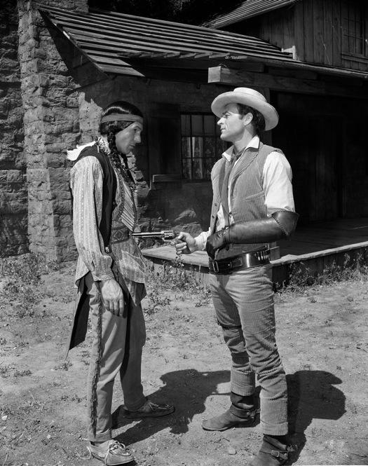 Before landing the role of Mr. Spock, Leonard Nimoy spent much of his early career doing small parts in TV shows and movies. Here, he plays the part of a Comanche Indian, alongside David McLean in an episode of <i>Tate,</i> which aired Aug. 10, 1960.