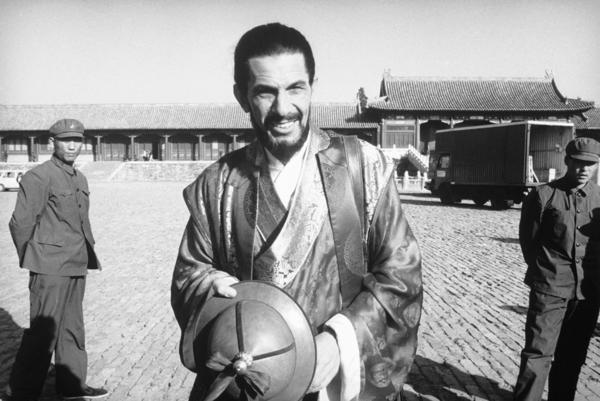 Filming <i>Marco Polo </i>on location in Beijing on Oct. 30, 1981.