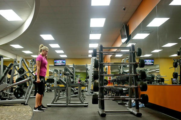 The weight training center at Anytime Fitness in Michigan in December. The company started using scent marketing four years ago.