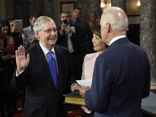 """""""We need to get committees working again. We need to recommit to a rational, functioning appropriations process,"""" Sen. Mitch McConnell said on the first full day of the new Congress."""