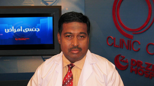 Dr. Nadim Uddin Siddiqui hosts a weekly call-in show about sexual issues on a Pakistani cable television channel. The program, <em>Clinic Online</em>, is a rarity for a conservative Muslim nation, but has proved popular, particularly among women.