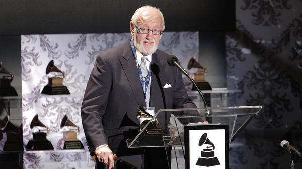Bruce Lundvall attends a ceremony hosted by the National Academy of Recording Arts and Sciences, which produces the Grammy Awards. In addition to his role as record executive, he also once served as director of the Recording Academy.