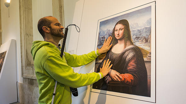 "A blind visitor to Spain's Prado Museum runs his fingers across a 3-D copy of the <em>Mona Lisa</em>, painted by an <a href=""http://www.npr.org/2012/02/02/146288063/painting-sheds-new-light-on-the-mona-lisa"">apprentice</a><a href=""http://www.theguardian.com/artanddesign/2012/feb/01/new-mona-lisa-prado""> </a>to Leonardo da Vinci."