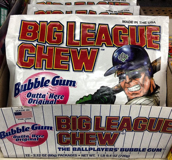 Big League Chew has been chewed by millions of baseball fans and players. (jeepersmedia/Flickr)