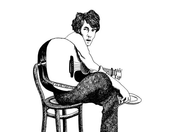 Cover art for a reissue of Bert Jansch's <em>Live At The 12 Bar.</em>