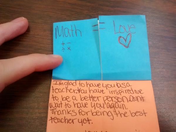 Students wrote Hagan congratulatory notes.