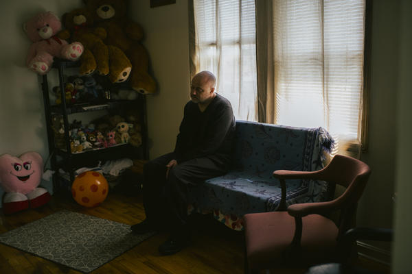 Brian Nelson, 50, at his home in Chicago. Five years after he was released from solitary confinement, he says it's still hard to be around people.