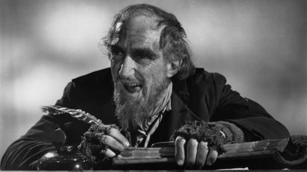 Ron Moody, as Fagin, is seen in a 1968 publicity portrait for the film <em>Oliver!</em>