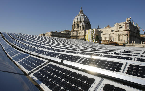 Francis isn't the only pontiff who has championed environmental issues: His predecessor, Pope Benedict XVI, installed solar panels (seen here in 2008) at the Vatican.