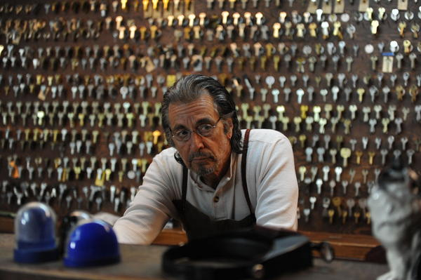 """Al Pacino (A.J. Manglehorn) is pictured in a scene from David Gordon Green's """"Manglehorn."""" (Courtesy of Van Redin. An IFC Films release.)"""