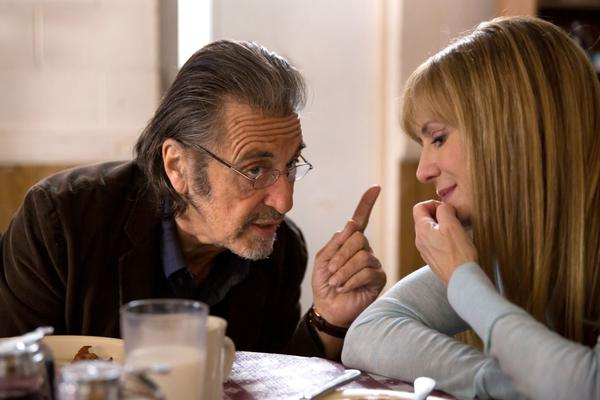 """Al Pacino (A.J. Manglehorn) and Holly Hunter (Dawn) are pictured in a scene from David Gordon Green's """"Manglehorn."""" (Courtesy of Ryan Green. An IFC Films release.)"""
