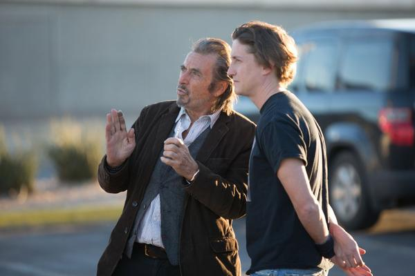 """Al Pacino and David Gordon Green behind the scenes of Green's """"Manglehorn."""" (Courtesy of Ryan Green. An IFC Films release.)"""
