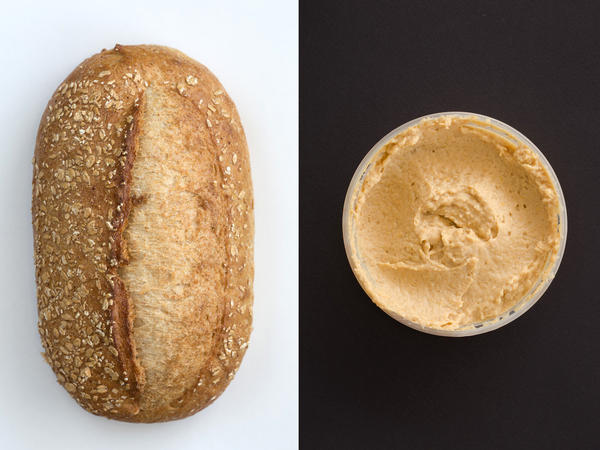 Why is this combo a vegetarian staple? Because hummus made with sesame seeds (in tahini) slathered on whole wheat bread gives you all the amino acids to form a complete protein.