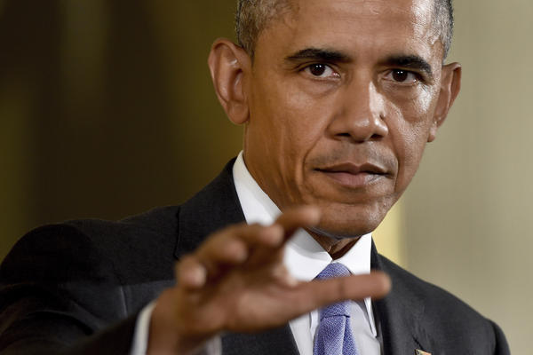 President Obama answers questions about the nuclear deal with Iran on Wednesday at a news conference in Washington.