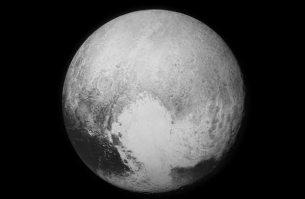 An image of Pluto sent back to Earth on Tuesday.