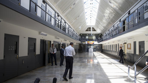 President Obama visited the El Reno Federal Correctional Institution in El Reno, Okla., on Thursday as part of a weeklong focus on inequities in the criminal justice system. While there, he met with non-violent drug offenders.