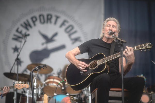 Roger Waters performs at the 2015 Newport Folk Festival.