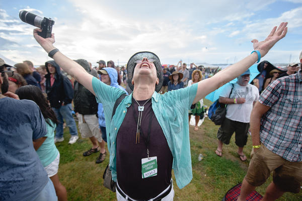 All Songs Considered host Bob Boilen, enraptured by Roger Waters' performance at the 2015 Newport Folk Festival.