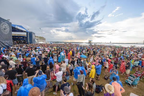 The threatening skies almost ruined Roger Waters' set at the 2015 Newport Folk Festival — but not quite.