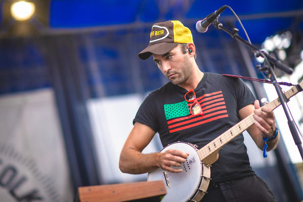 It was only fitting for Sufjan Stevens to bust out his banjo at the Newport Folk Festival.