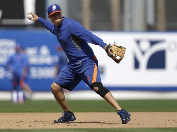 New York Mets infielder Wilmer Flores.