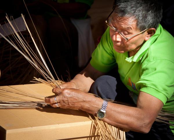 Abel Rodriguez showed off his basket-weaving skills at the 2011 Smithsonian Folklife Festival.