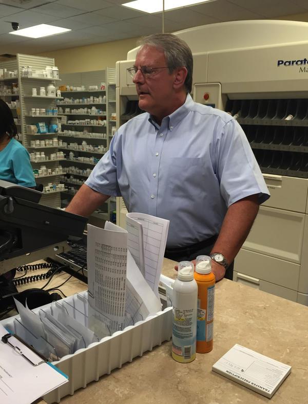Bill Napier, owner of Panama Pharmacy in Jacksonville, Florida. (Jessica Palombo/WJCT)