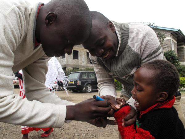 A child is vaccinated in Makadara Health Clinic, Nairobi, Kenya.