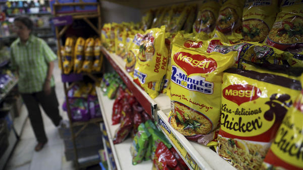 Packages of Nestle's Maggi were displayed at a grocery store in Bangalore, India, in June, the same month the government ordered a recall of the instant noodles.