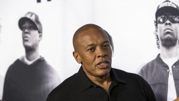 Entrepreneur and musician Dr. Dre arrives at the premiere of <em>Straight Outta Compton </em>in Los Angeles.