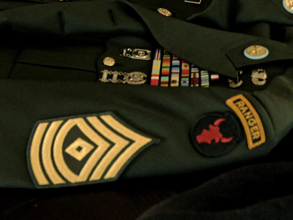 The Ranger tab is displayed on a U.S. Army military jacket. The Army announced on Monday that, for the first time, two women had graduated from the prestigious Ranger school.