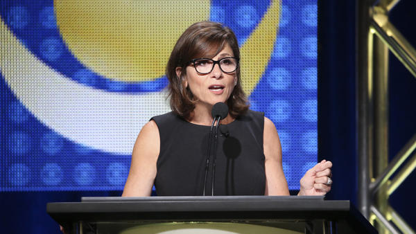 CBS Entertainment Chairman Nina Tassler speaks at the TCA Summer Press Tour 2015 in Beverly Hills, Calif.