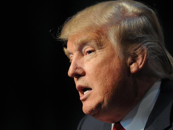 Republican presidential candidate Donald Trump in Des Moines, Iowa, on Saturday.