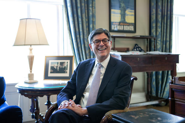 Secretary Jack Lew in his office at the U.S. Department of the Treasury in Washington, D.C., on Wednesday.