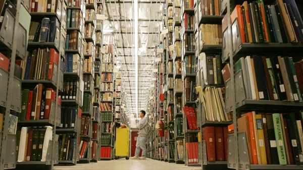 Since 2004, Google has scanned more than 20 million books as part of an electronic database, such as these volumes at the University of Michigan's Buhr Shelving Facility.
