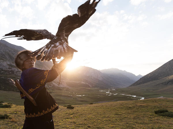 High in the mountains of Kyrgyzstan, the vanishing art of eagle hunting is practiced. Enthusiasts capture hatchlings, then teach them to hunt.