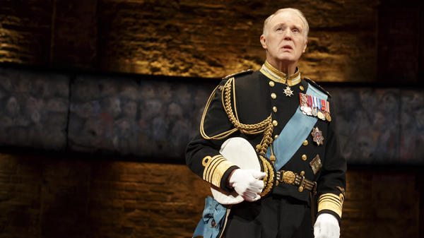 "Tim Pigott-Smith plays a bewildered but principled monarch in the new ""future history"" play <em>King Charles III.</em>"
