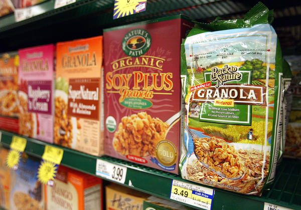 """Granola cereals on a shelf in Glenview, Ill. """"If the FDA were to create a more strict, more comprehensive definition, it would give manufacturers a lot more guidance on whether or not they could use the term 'natural' on their food products,"""" says lawyer Ivan Wasserman."""
