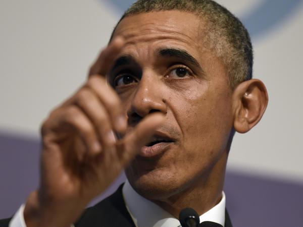 President Obama speaks to reporters in Antalya, Turkey, on Monday.