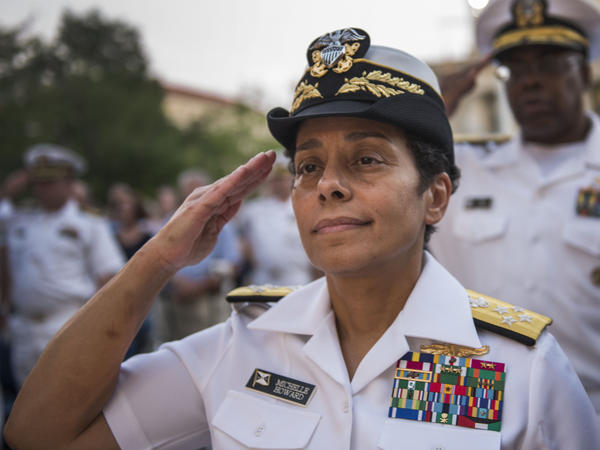 Adm. Michelle Howard, Vice Chief of Naval Operations, at the U.S. Navy Memorial.