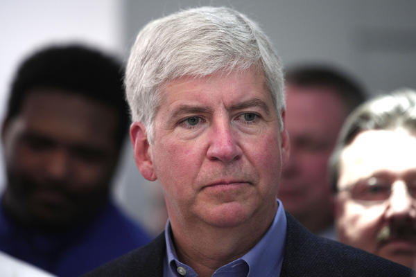 Gov. Rick Snyder, R-Mich., is one of 30 governors to oppose the continued resettlement of Syrian refugees in the U.S. over security concerns. He joined a call with Obama administration officials Tues.