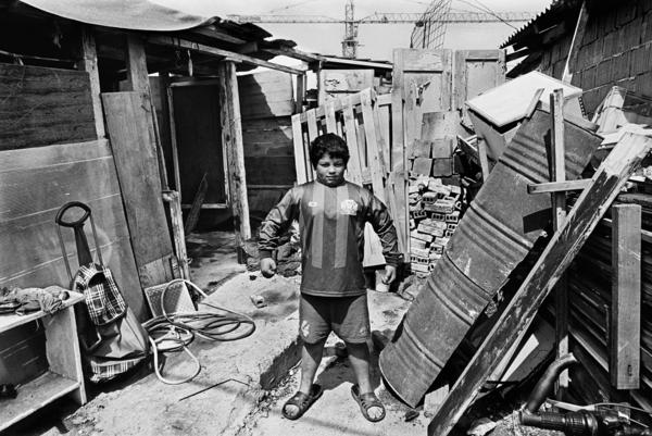 """This 11-year-old boy lives with his family in a Roma settlement in Belgrade. """"He and his brothers and sisters are without documents, but he had this amazing confidence,"""" Constantine says."""