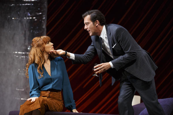 Though the Roundabout Theatre can only pay regional theater rates it's attracted stars like Liam Neeson, Natasha Richardson, Jessica Lange, Jason Robards, Liev Schreiber, and others. Above, Clive Owen and Kelly Reilly star as Deeley and Kate in the Roundabout revival of <em>Old Times.</em>