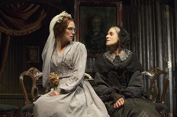 Keira Knightly (left) and Judith Light in the Roundabout Theatre Company's new adaptation of Émile Zola's <em>Thérèse Raquin.</em>