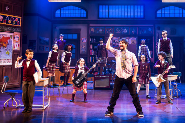 Alex Brightman stars as Dewey Finn — a rocker turned substitute teacher — in the musical adaptation of <em>School of Rock.</em>