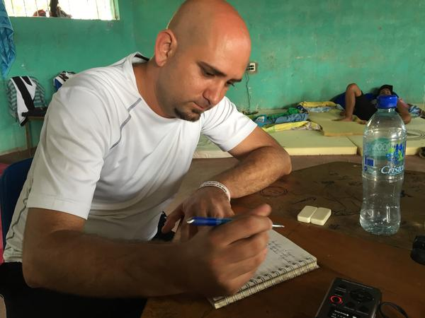 Fernando Pacheco, an orthopedic surgeon, was paid $65 a month in Cuba, one of the highest salaries on the island, but he says it wasn't enough to support his family.