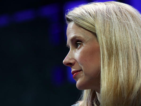 Yahoo CEO Marissa Mayer, seen speaking in San Francisco in November, says both Yahoo and its investors would have to pay taxes if Alibaba shares were given to investors.