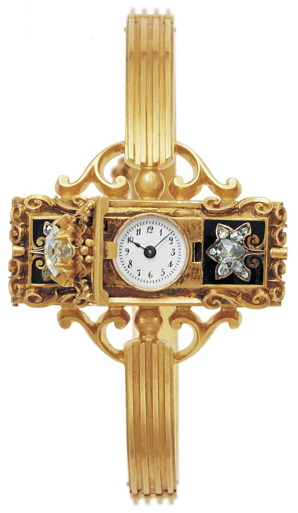 """According to Aja Raden, a Hungarian countess commissioned the first wristwatch from watchmaker Patek Philippe around 1868. """"[It] was a spectacularly expensive piece of jewelry,"""" the author says."""