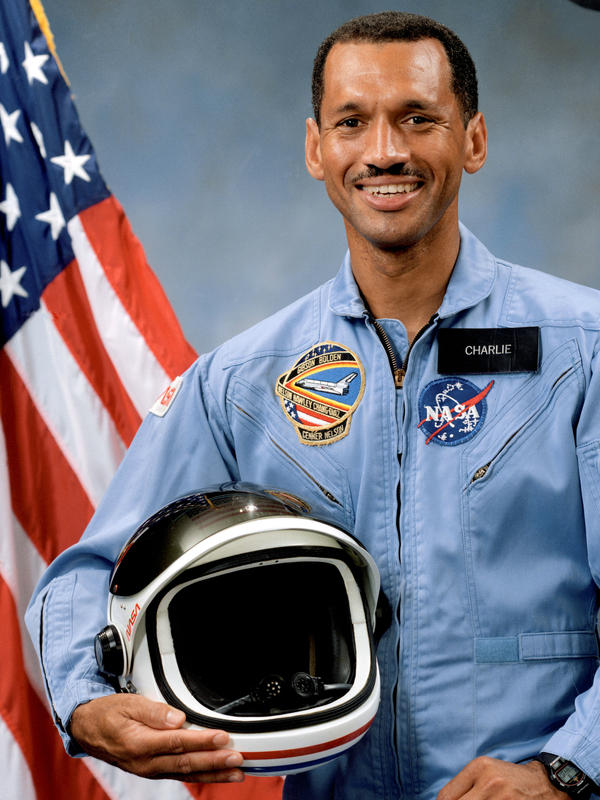 Charles Bolden, NASA's current chief administrator, before his first shuttle flight in 1986.